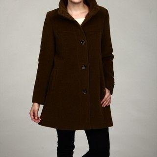 Jones New York Womens Wool 3/4 length Coat