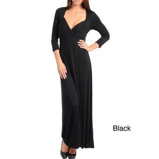 Stanzino Womens 3/4 Sleeve Long Dress