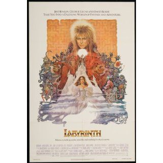 Labyrinth 1986 Original U.S. One Sheet Poster Folded 27 x