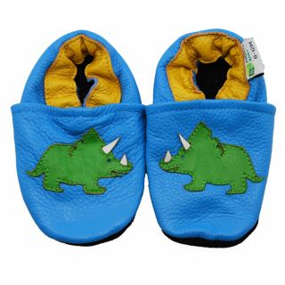 Tricerotops Dinosaur Soft Sole Leather Baby Shoes Compare $20.97