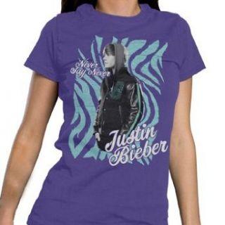 Justin Bieber     Jungen Frauen Zebra T Shirt in Lila