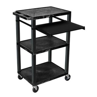 Wilson 42 Inch High Black Open Shelf Presentation Stand