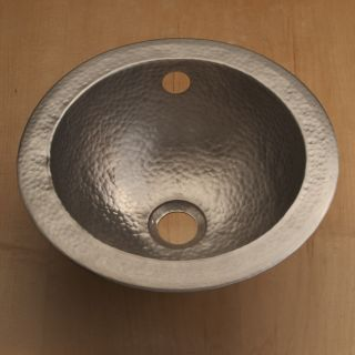 Hand hammered Satin Nickel Bathroom Sink