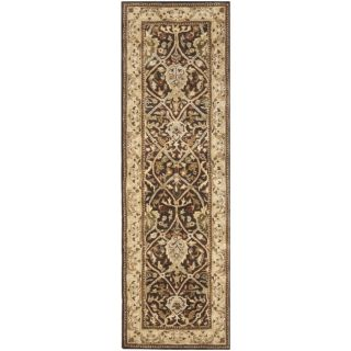 Handmade Persian Legend Brown/ Beige Wool Rug (26 x 12)