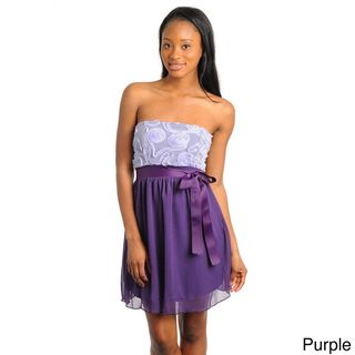 Stanzino Juniors Two tone Strapless Mini Dress
