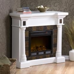 Blanchard Whie Elecric Fireplace