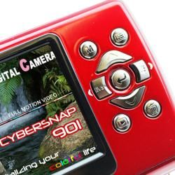 SVP Cybersnap 901 9MP 2.4 inch LCD Red Digital Camera/ Video Recorder