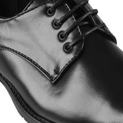 Oxford & Finch Mens Topstitched Square Toe Leather Lace up Oxfords