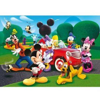 Clementoni   Puzzle de 250 pièces   Mickey et ses amis  En voiture