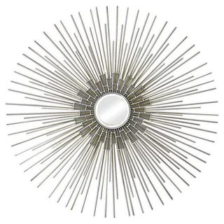 Ren Wil Silver and Gold Circular Mirror