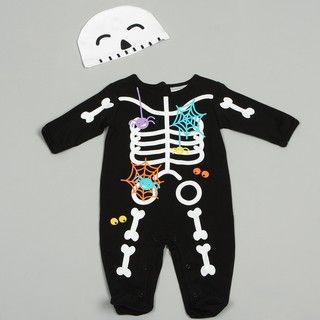 Babyworks Newborn Boys Skeleton Coverall Set