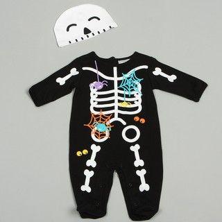 Babyworks Newborn Boys Skeleton Coverall Set