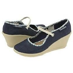Skechers Sweets   Overjoyed Denim Blue Canvas