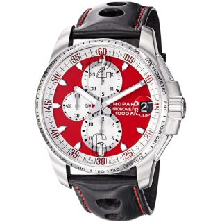 Chopard Mens Miglia Gran Turismo XL Red Dial Chronograph Watch MSRP