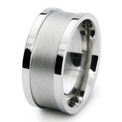 Stainless Steel Mens Engraveable Fashion Ring