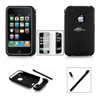 Apple iPhone 3G 3GS Rubberize Case Stylus Screen Protector