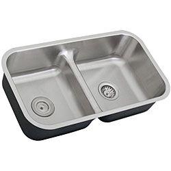 Ticor Stainless Steel 16 gauge Low Divide Undermount Kitchen Sink