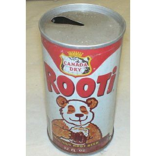 Vintage Collectible Flat Top Soda Can : Rooti Root Beer