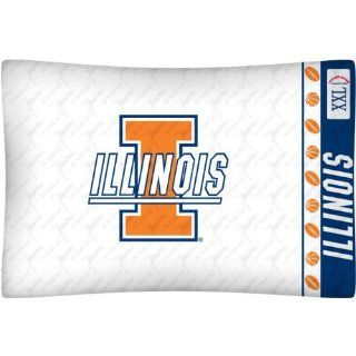 NCAA Illinois Fighting Illini Pillow Case Logo Sports