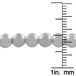 Rhodiumplated Sterling Silver 6mm Bead Ball Necklace