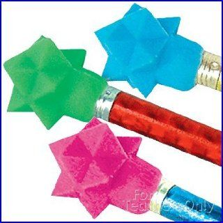 Star Wedge Cap Erasers   144 per set Office Products