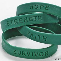 144 TEAL SILICONE OVARIAN / CERVICAL CANCER AWARENESS