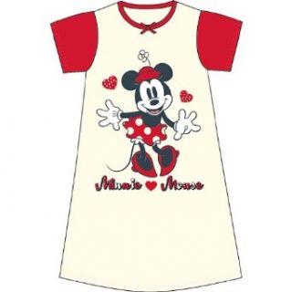 Kinder Mädchen Disney Minnie Maus Bedrucktes Kurzärmliges Nachthemd