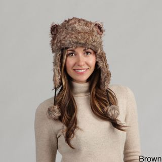 Womens Faux Fur Fuzzy Trapper Hat