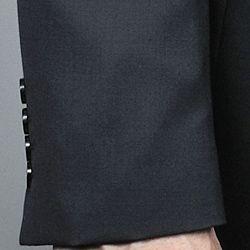 Mantoni Mens Black Wool 2 button Suit