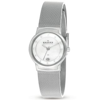 Skagen Womens Mother of Pearl Dial Mesh Band Watch