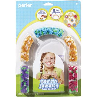 Perler Fun Fusion Fuse Bead Activity Kit Gems n Jewelry