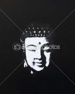 Buddha painting black and white  Stock Photo © Andrea Haase #1582740
