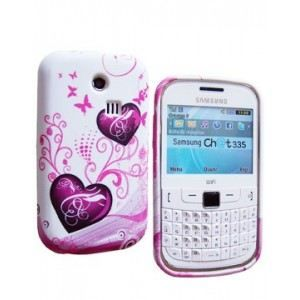 COQUE TELEPHONE Coque SoftyGel Flower pour Samsung Chat 335 S3350