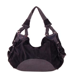 Candice Purple Faux Leather Hobo Bag