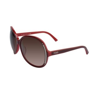 Fendi Womens Red Plastic Fashion Sunglasses