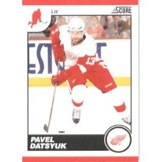 2010 /11 Score Hockey Card # 186 Pavel Datsyuk Detroit Red