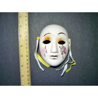 Ceramic Mini Mardi Gras Face Mask for Wall   201 A Everything Else