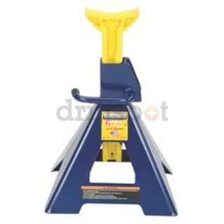 Hein Werner HW93506 6 Ton Blue/Yellow Ratchet Style Jack Stand Pair