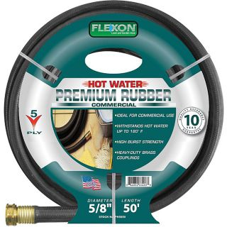 Flexon Hot Water Rubber (0.625 x 50) Garden Hose