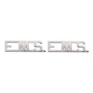 EMT E.MS. EMERGENCY MEDICAL SERVICES Paramedic Collar Lapel Pins Brass