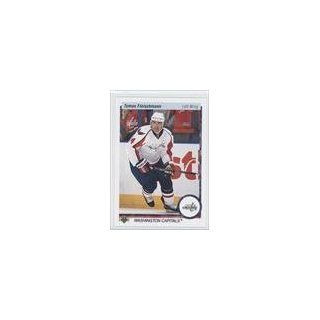 Tomas Fleischmann Washington Capitals (Hockey Card) 2010 11 Upper Deck