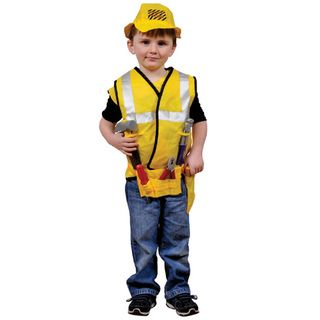 Dress Up America Kids Construction Worker Role Play Dress Up Set