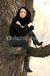 Sad girl on the tree  Stock Photo © Svetlana Khvorostova #1872100