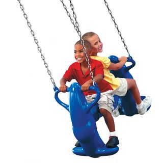 Swing N Slide Mega Rider Plastic Outdoor Swing Set with Mounting Guide