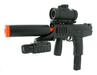 Spring Tactical TMP Machine Pistol FPS 235 Electronic Sight, Silencer