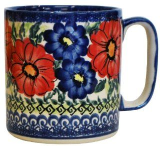Polish Pottery Flower Mug #238 Kitchen & Dining