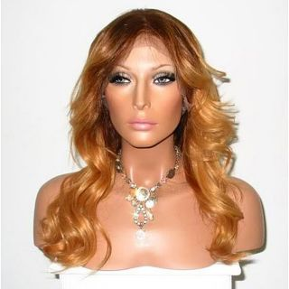 Star Flow Brown/ Blonde Full Lace 24 inch Human Hair Wig