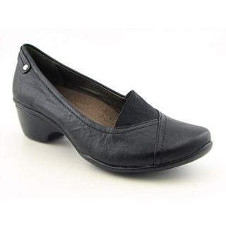 Hush Puppies Empress Womens Black Loafer Wedge Shoes
