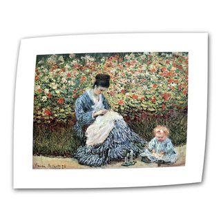Claude Monet Mother and Child Flat Canvas
