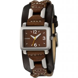 Fossil Womens Leather Strap Analog Watch